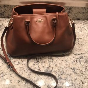 6c9ee77169f1 Brown COACH satchel purse